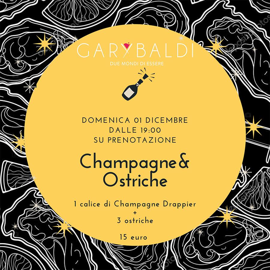 garybaldi ostriche champagne Eventi